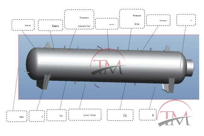 CO2 Storage Tank-700L CO2 Extraction Equipment Part